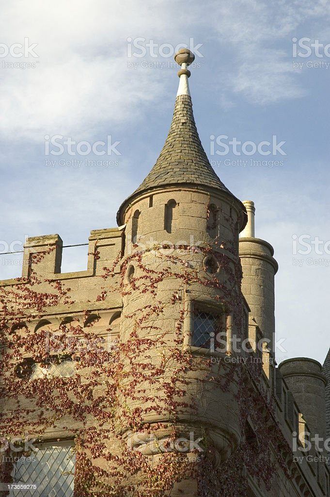 Glamis Castle Ivy stock photo