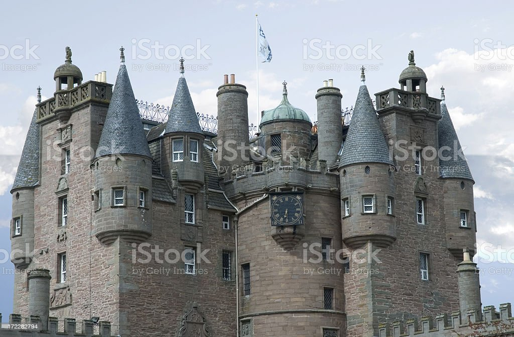 Glamis Castle stock photo