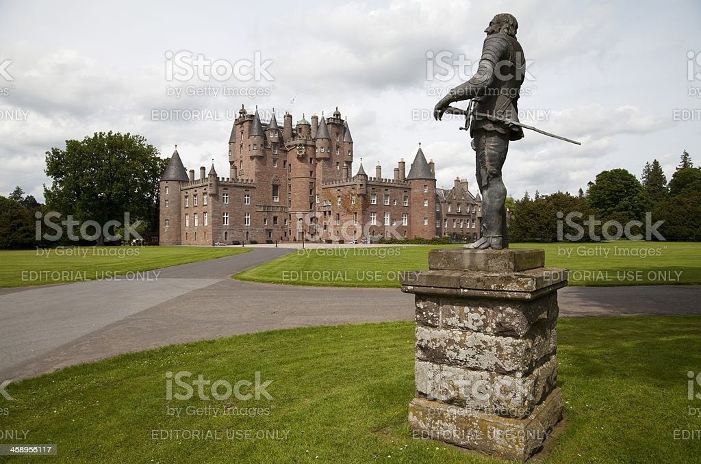 Glamis Castle, Scotland stock photo