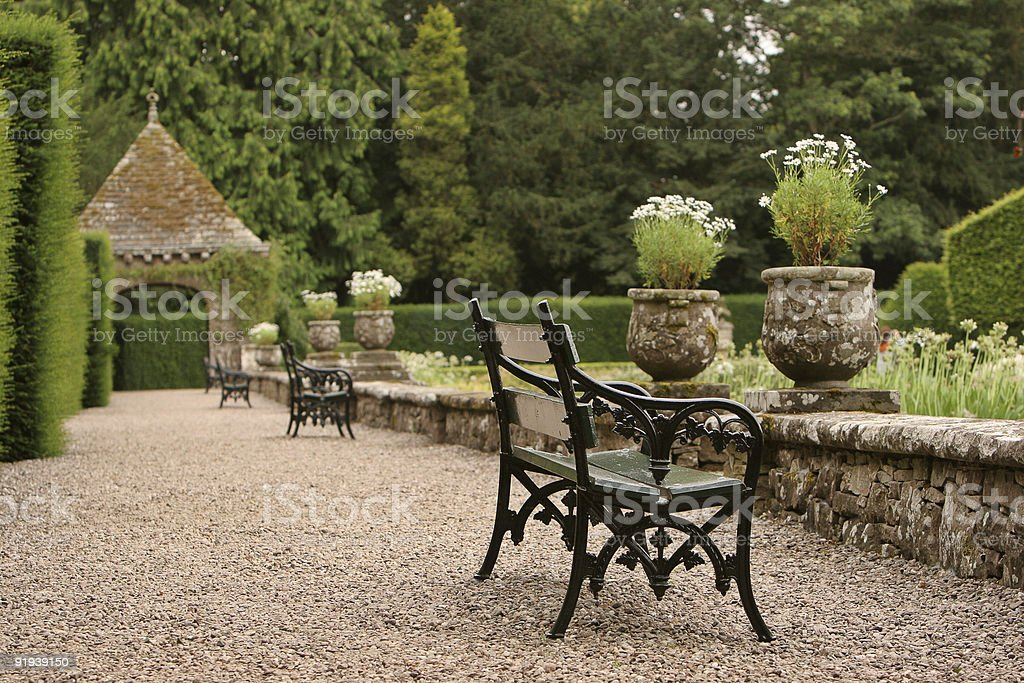 Glamis Gardens stock photo