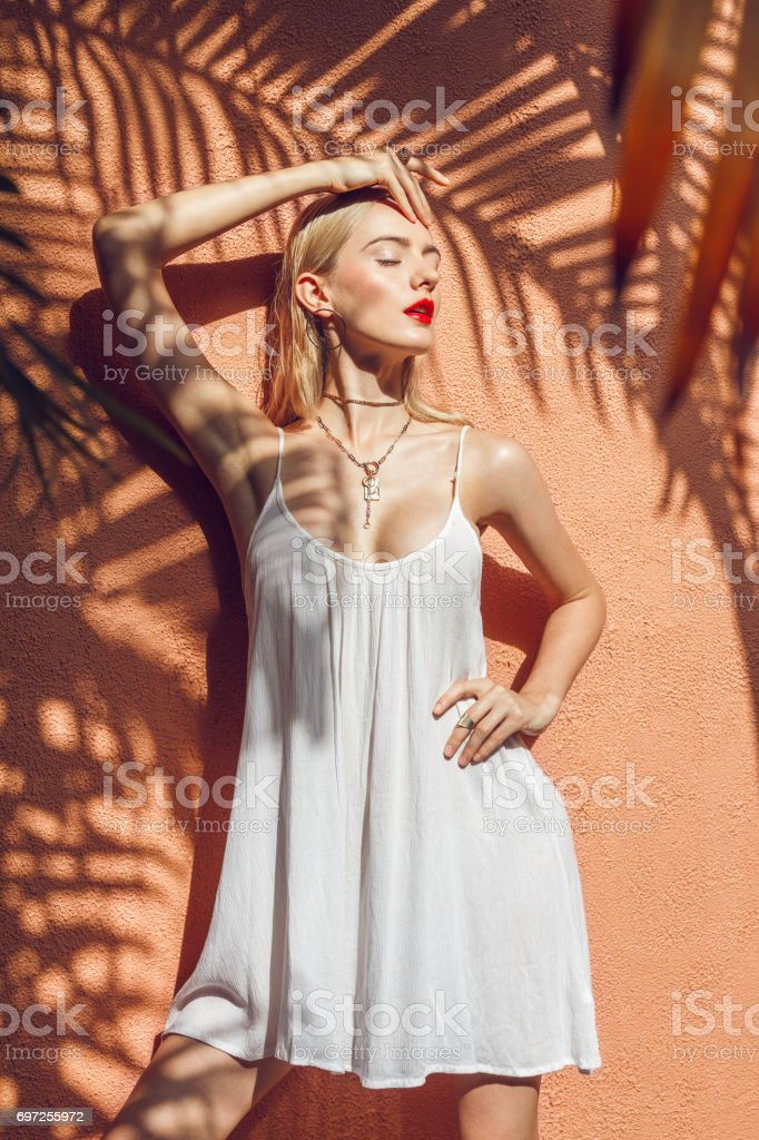 Glamor in the shade stock photo