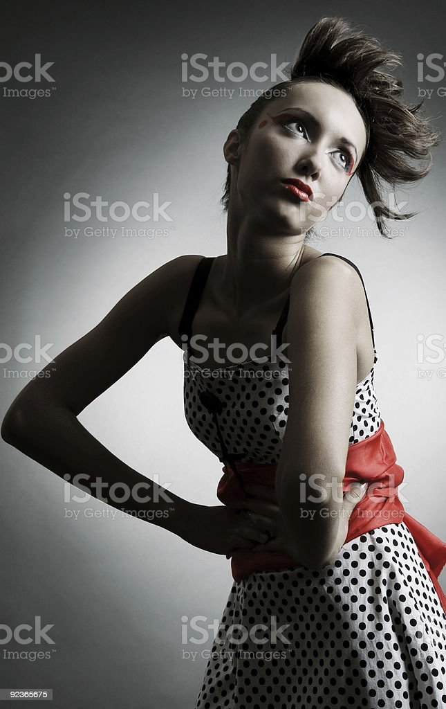 glamor portrait of attractive woman royalty-free stock photo