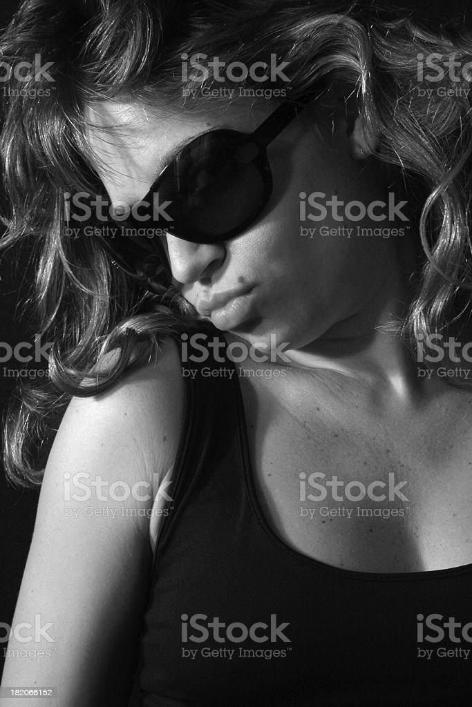 Glamorous Blonde Fashion Woman royalty-free stock photo