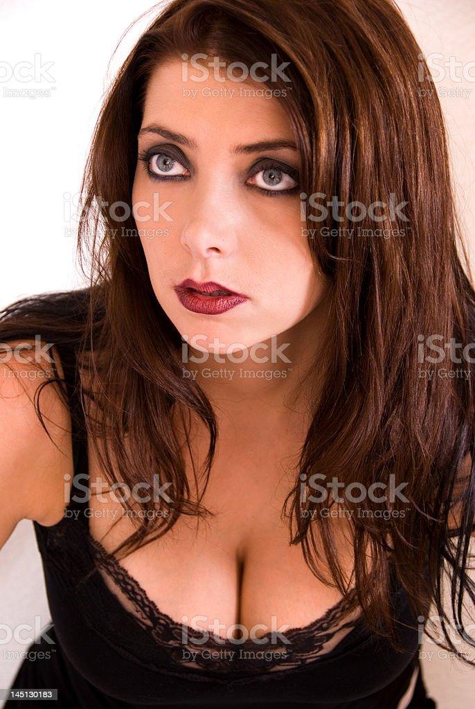 Glamorous brunette. royalty-free stock photo