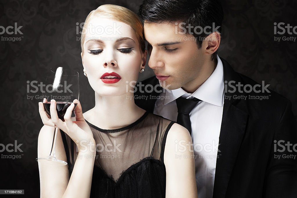 Glamorous Couple stock photo