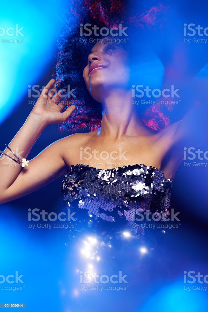 Glamorous dancing stock photo