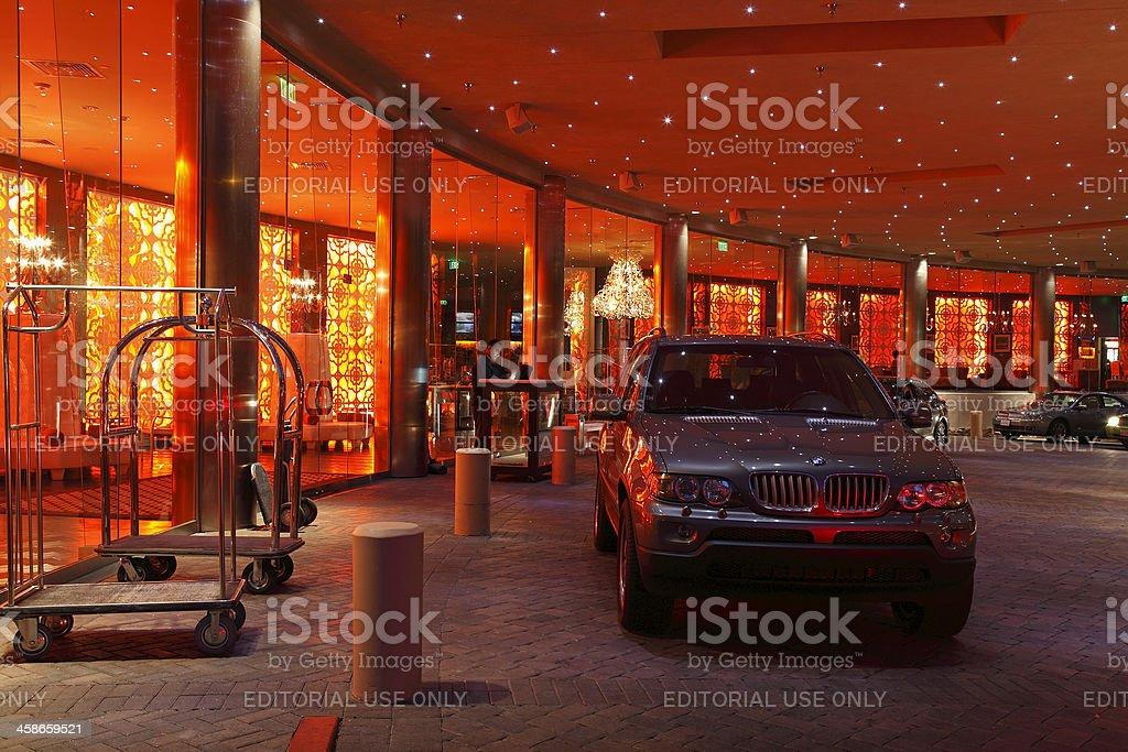 Glamorous Elaborate Hotel Entrance stock photo