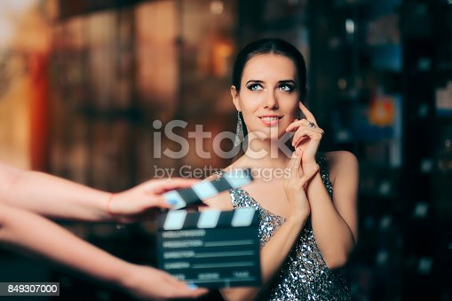 istock Glamorous Model Starring in Fashion Campaign Video Commercial 849307000