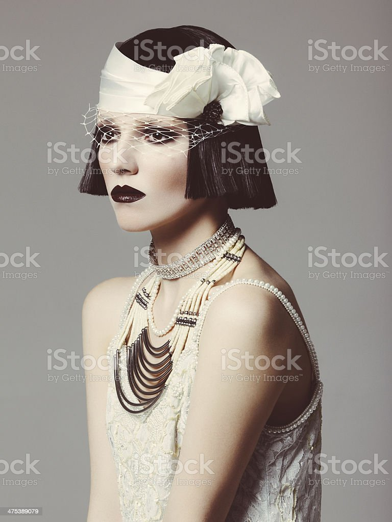Glamorous retro diva stock photo