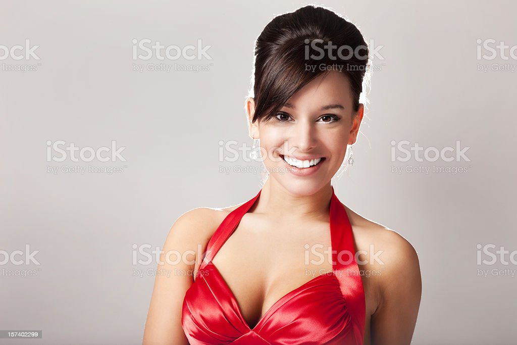 Glamorous Woman in Red royalty-free stock photo