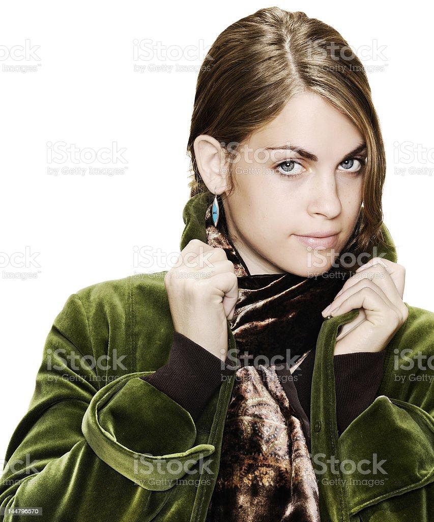 Glamorous young woman. royalty-free stock photo