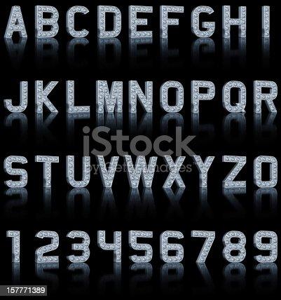 istock Glamour Alphabet On Black 157771389