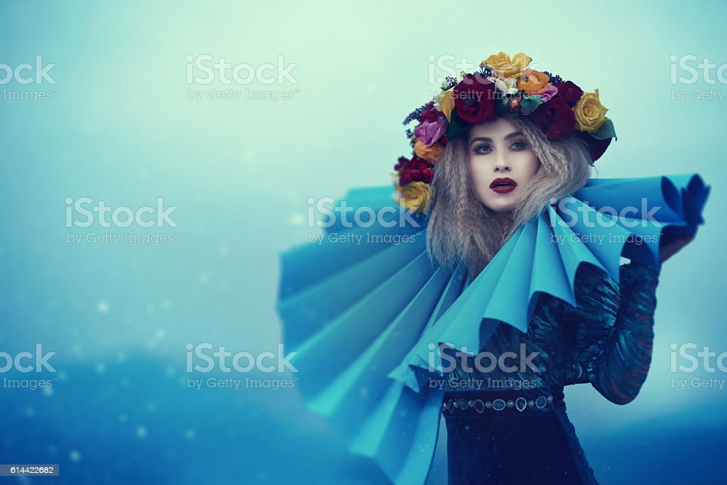 glamour and fairy fashion model stock photo