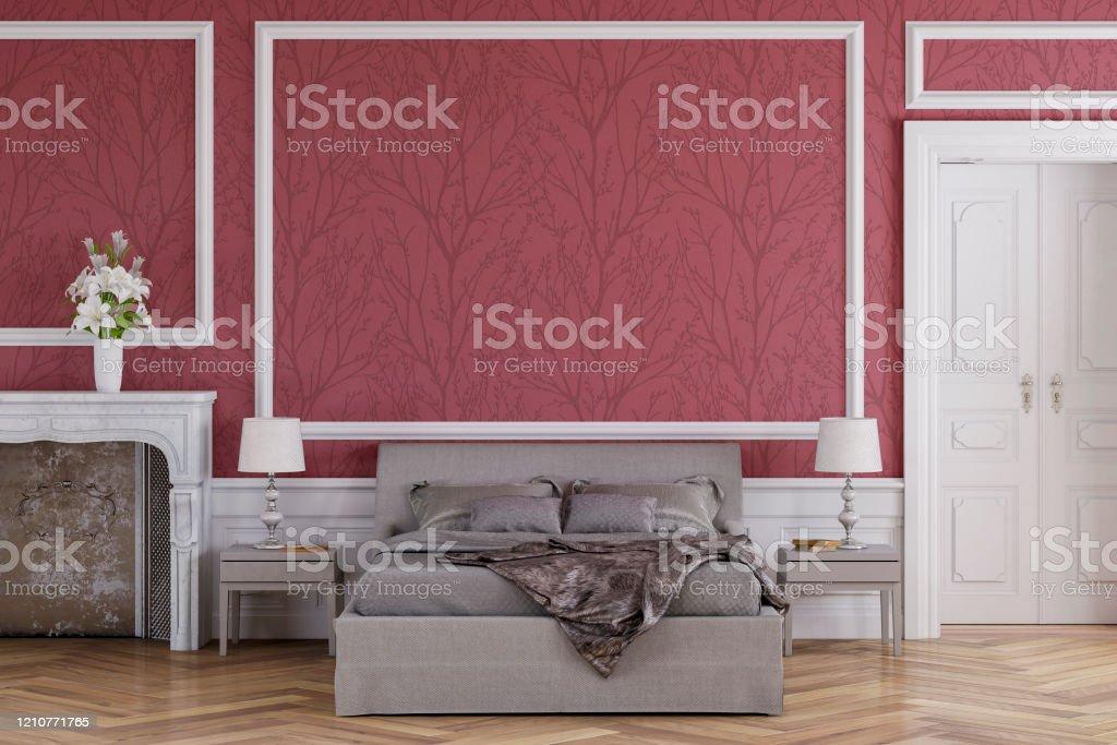 Photo Libre De Droit De Chambre Glamour Avec Decoration Et Cheminee Banque D Images Et Plus D Images Libres De Droit De A La Mode Istock