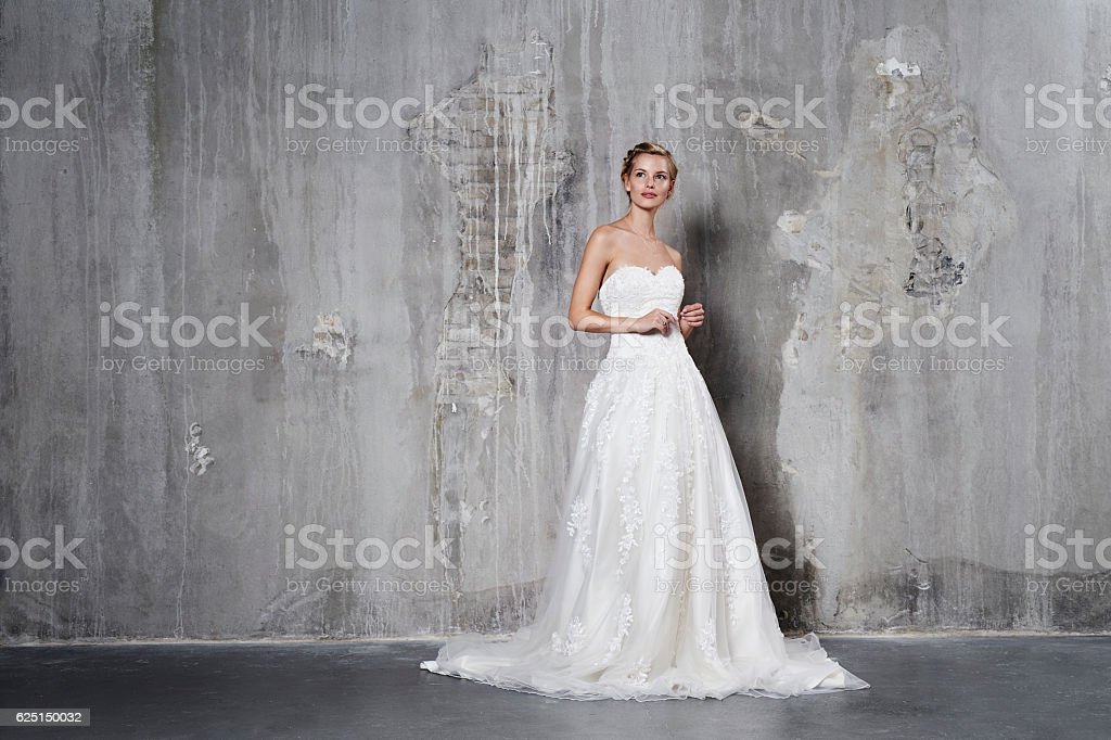 Glamour bride stock photo