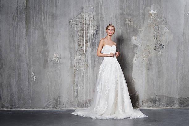 Glamour bride stock photo