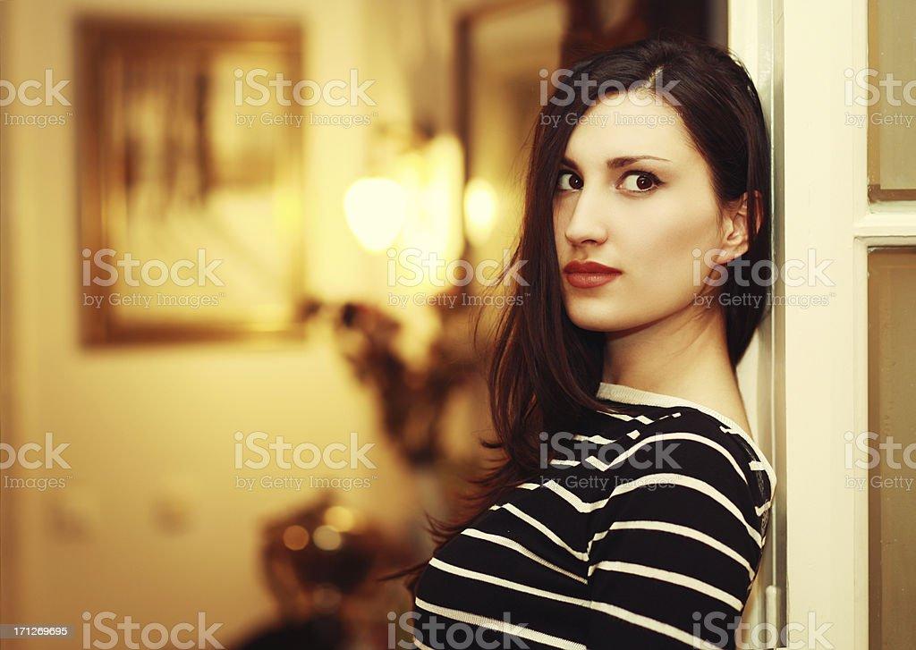 Glamour brunette Künstler Porträt – Foto