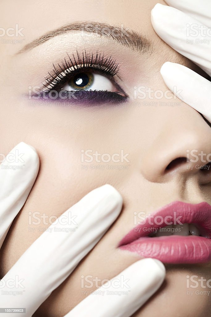glamour close up portrait royalty-free stock photo