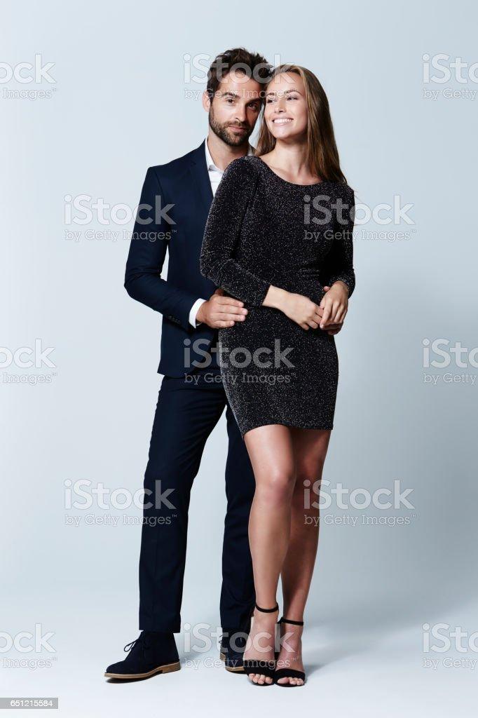 Glamour couple stock photo