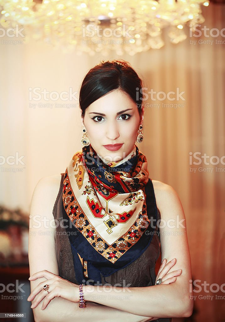 Glamour fashion portrait royalty-free stock photo