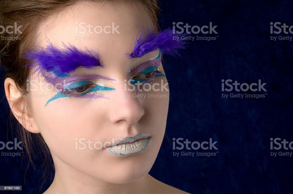 Glamour girl colour closeup. royalty-free stock photo