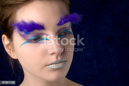Glamour Girl Colour Closeup Stock Photo & More Pictures of 20-24 Years