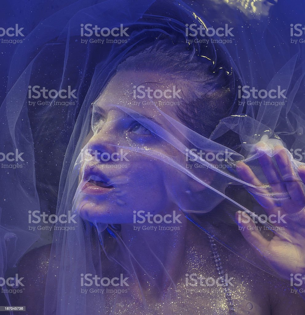 Glamour girl in water royalty-free stock photo