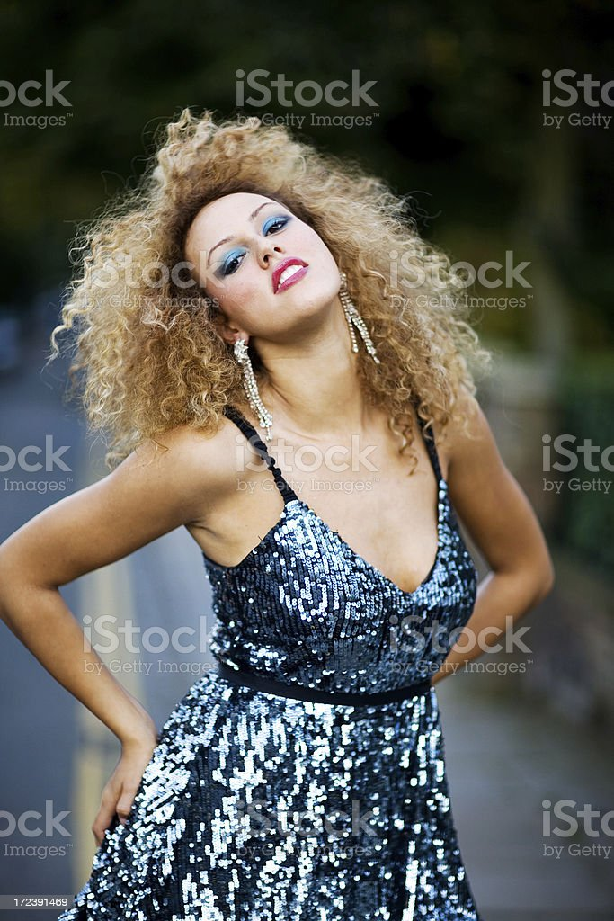 glamour girl royalty-free stock photo