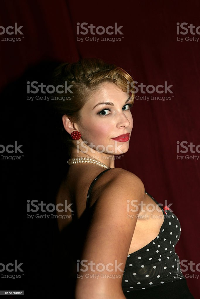 Glamour Girl Vertical royalty-free stock photo
