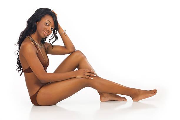 Glamour Girls - African American Swimwear Model stock photo