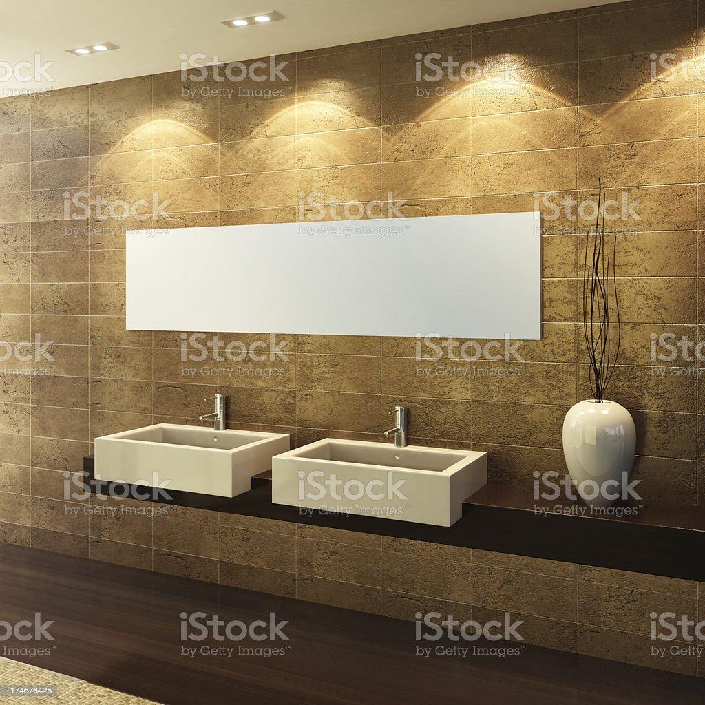 Glamour Gold Bathroom royalty-free stock photo