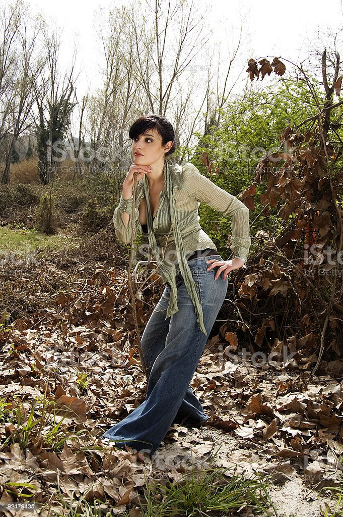 Glamour in the forest! royalty-free stock photo