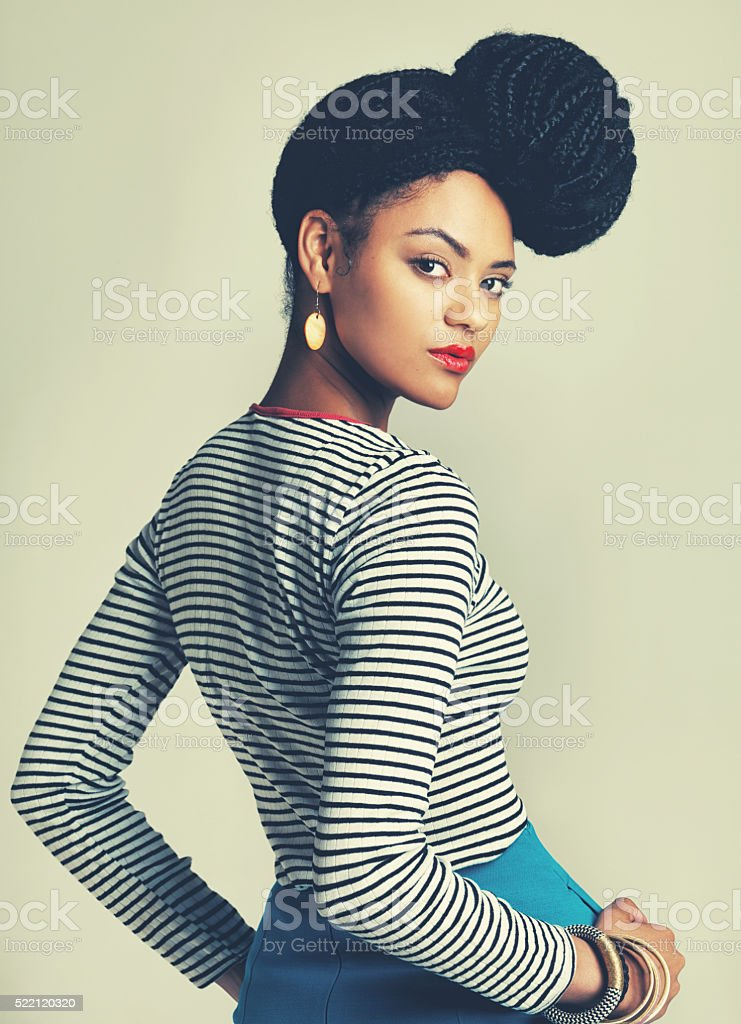 Glamour is a state of mind stock photo