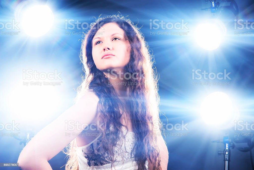 Glamour model superstar royalty-free stock photo