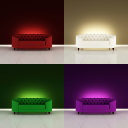Glamour Modern Sofa Styles Stock Photo - Download Image Now ...