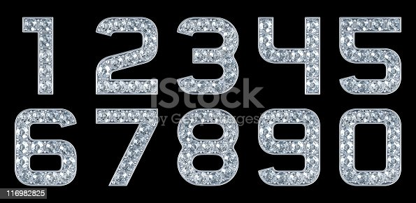 istock Glamour Numerals. Isolated on black 116982825