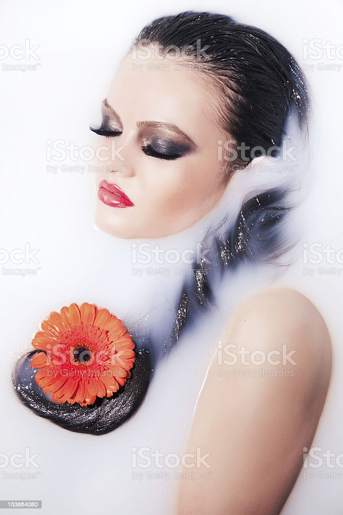 glamour portrait in water royalty-free stock photo