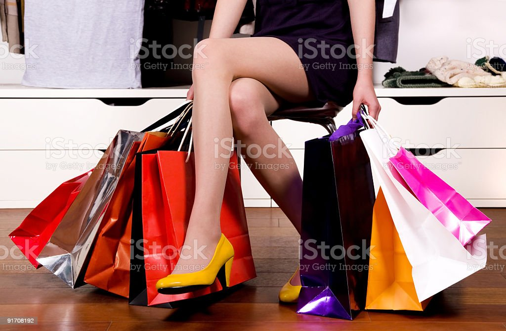 Glamour Shopping royalty-free stock photo
