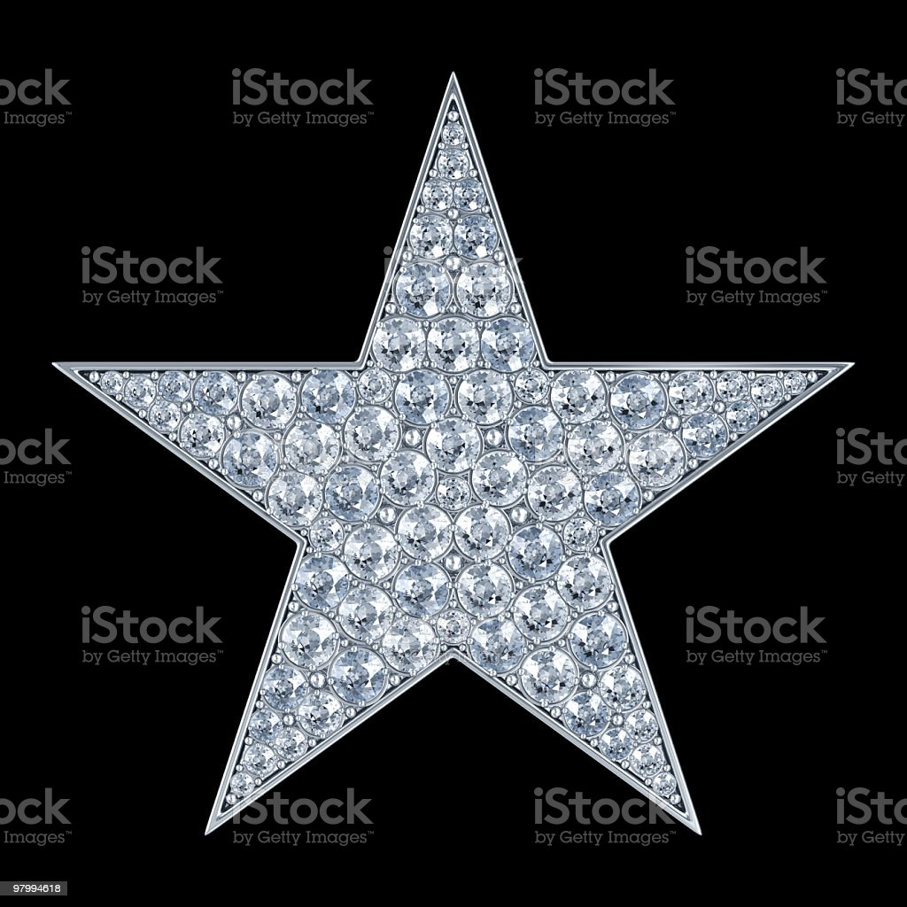 Glamour star. Isolated on black royalty-free stock photo