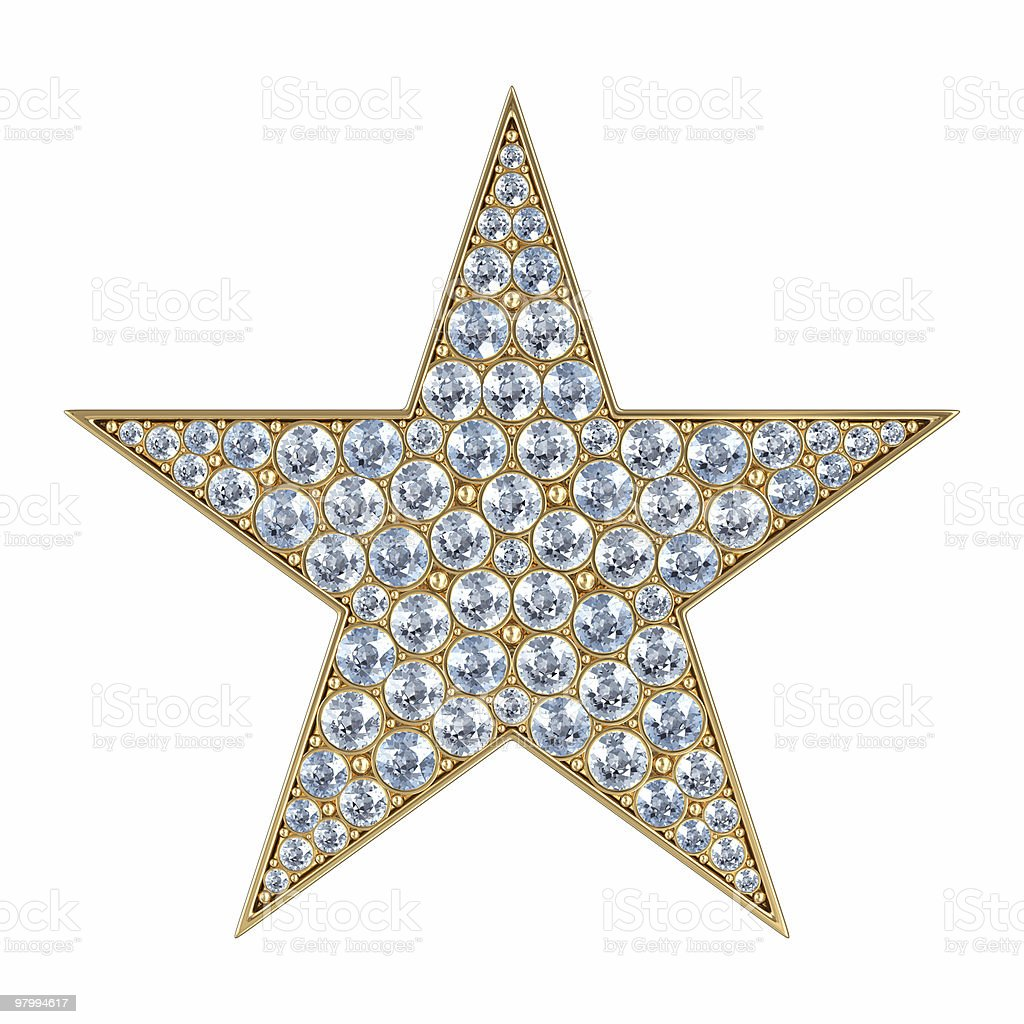 Glamour star. Isolated on white royalty-free stock photo