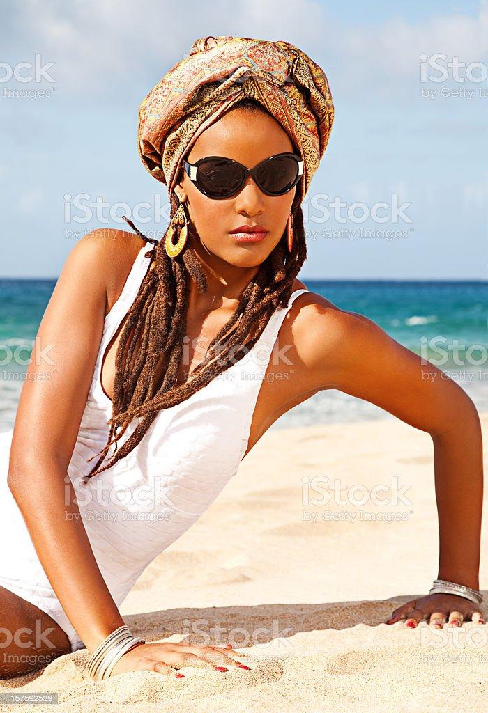 Glamour Turban Fashion stock photo