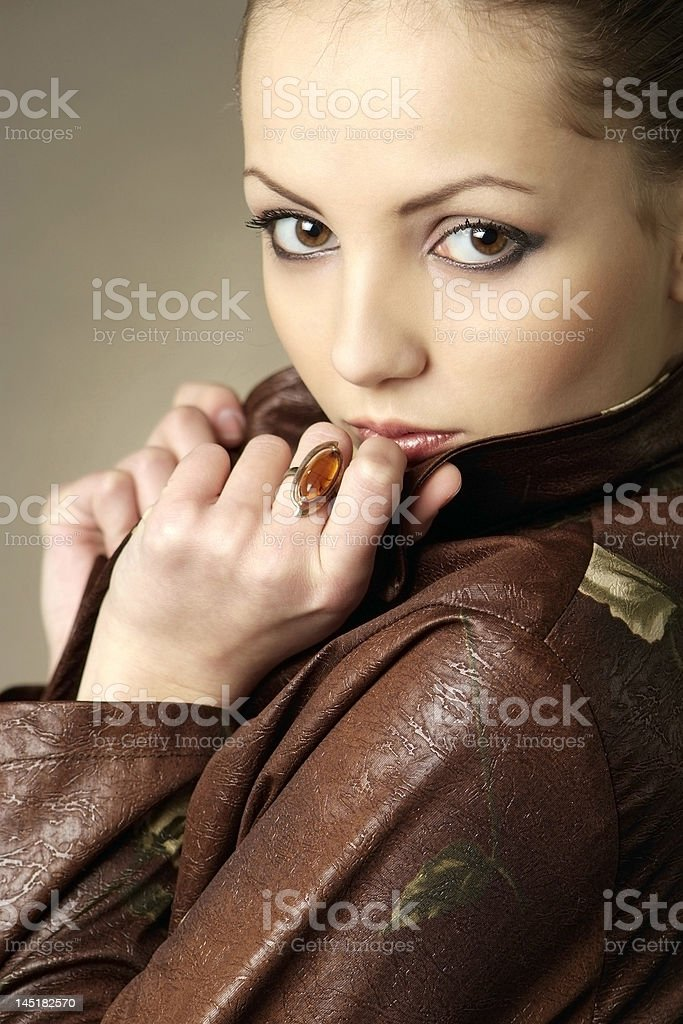 Glamour women portrait royalty-free stock photo