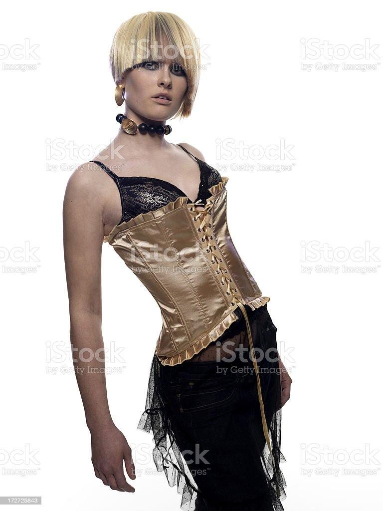 Glamourous blonde female fashion model royalty-free stock photo