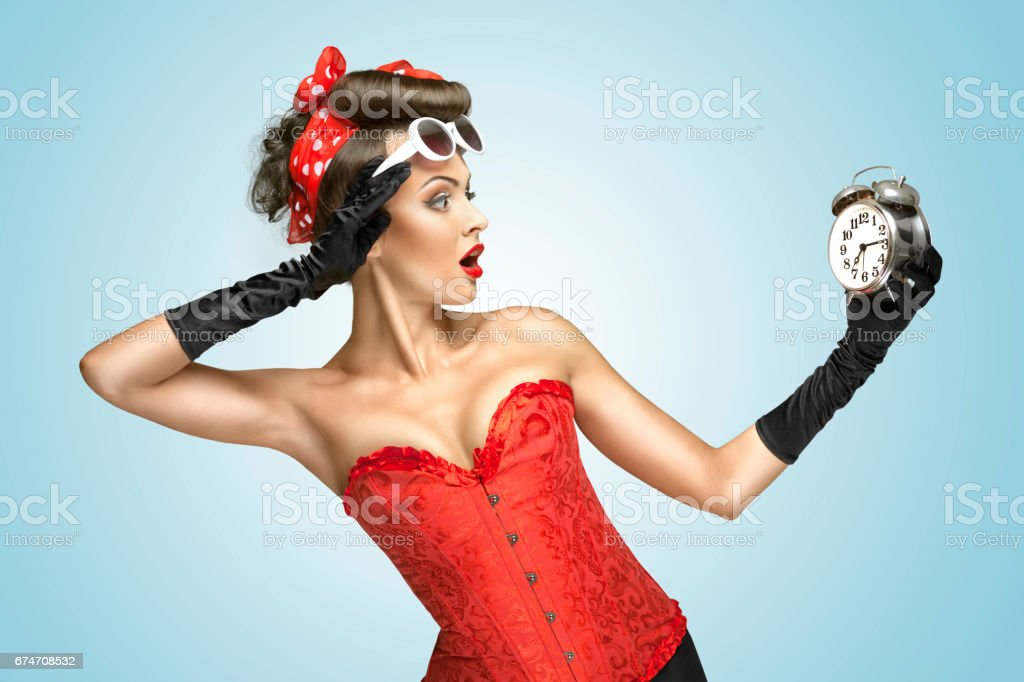 Glamourous clockwork. stock photo