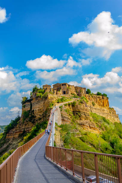 Glance of Civita di Bagnoregio (Viterbo, Lazio, Italy). stock photo