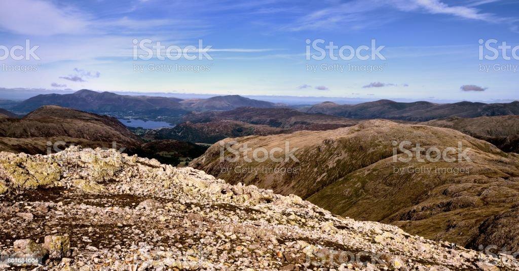 Glaramara and Allen Crags stock photo