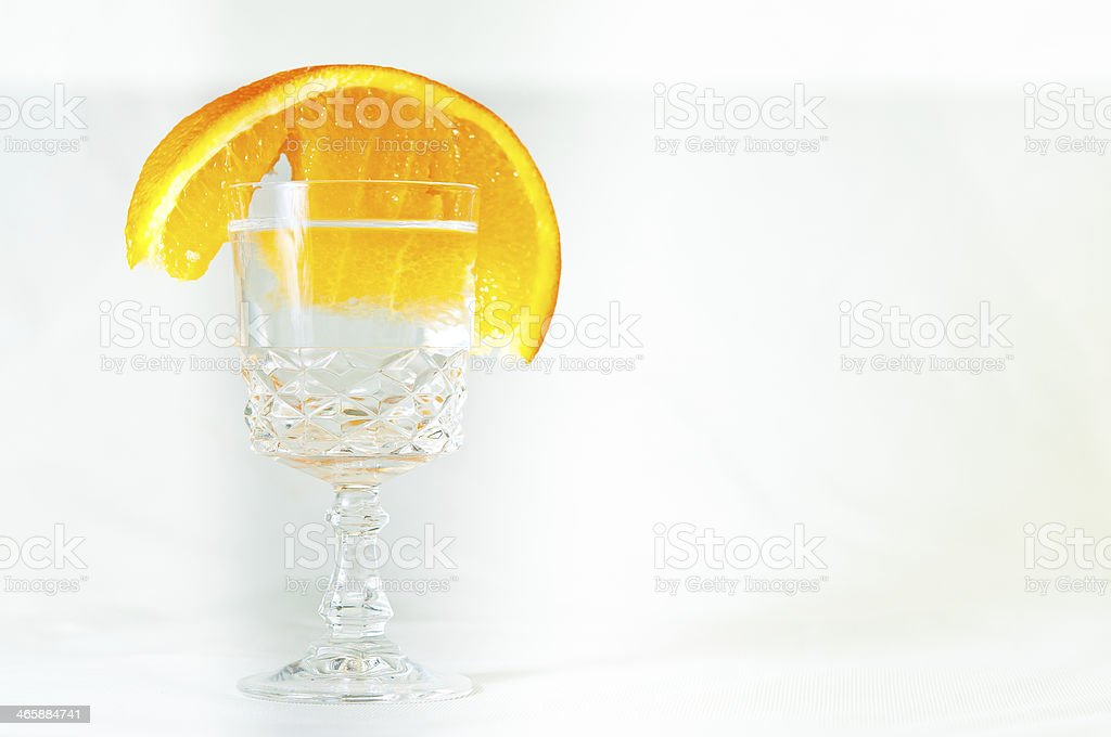 Glas of Hard Liquor stock photo