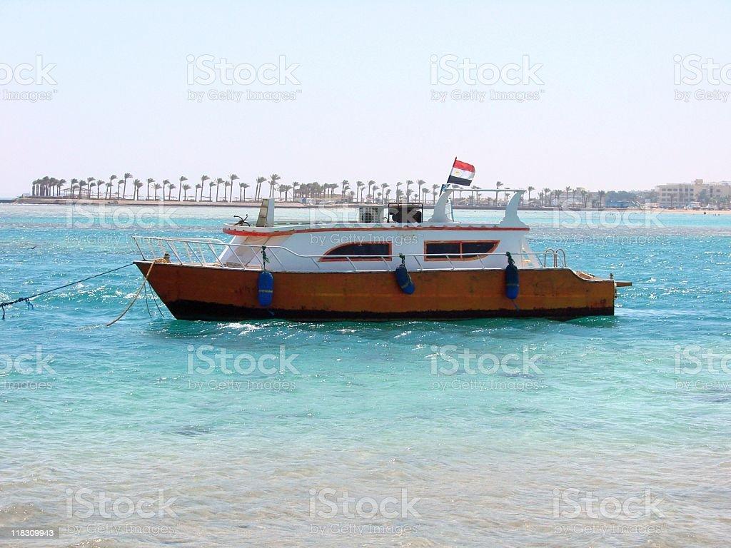 Glasbodenschiff stock photo