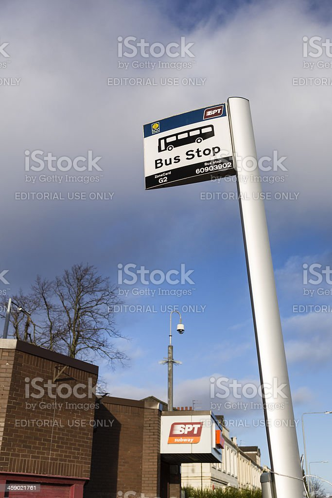 Glasgow Bus Stop and Subway stock photo