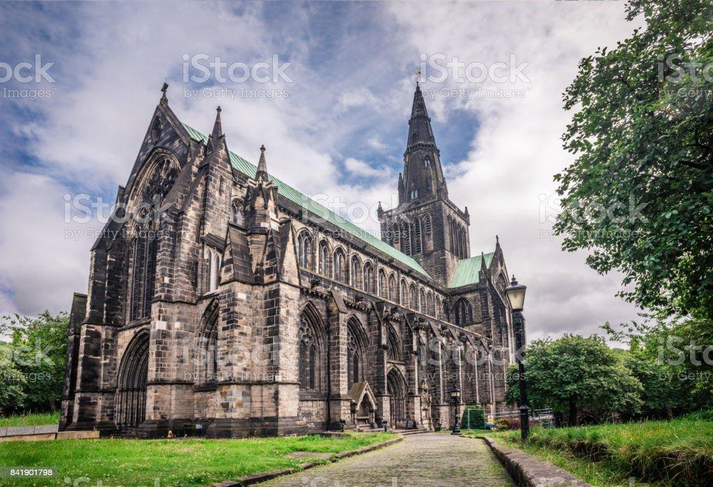 Cathédrale de Glasgow à une journée nuageuse St.Mungo - Photo